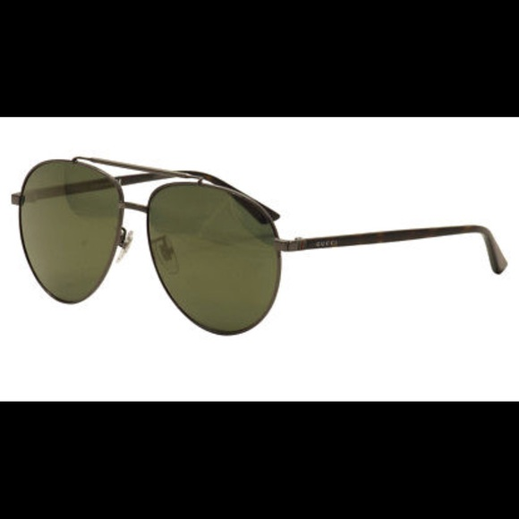 233372d3b0 GUCCI GG0043SA Sunglasses Ruthenium Brown 🚻🆕‼️